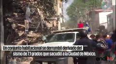 Rescatan personas atrapadas en sismo en Ciudad de México