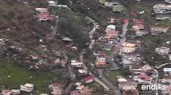 Recorrido aéreo muestra la devastación en Dominica