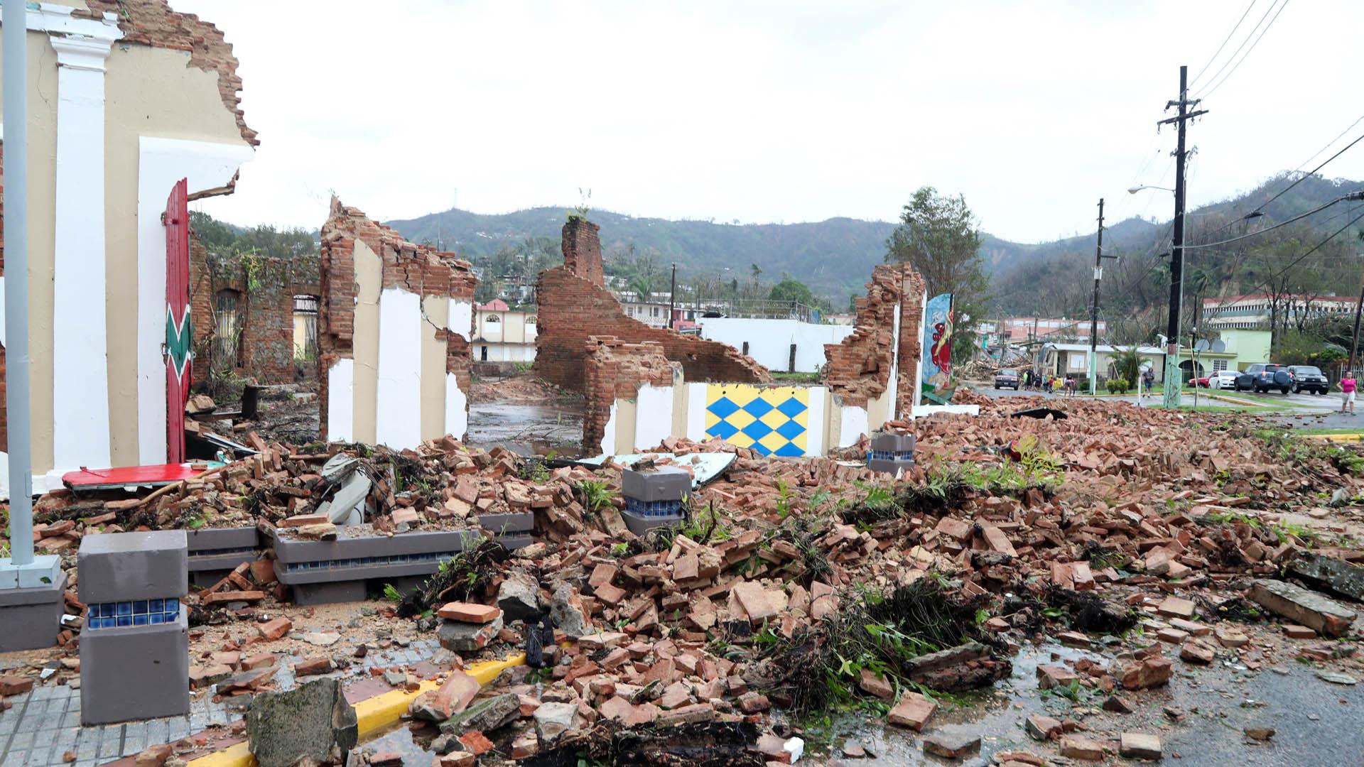 Algunas estructuras de Utuado quedaron en ruinas