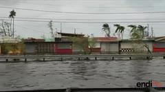 Inundada la zona de los kioscos de Luquillo