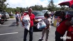 Boricuas en la Florida recogen suministros para Puerto Rico