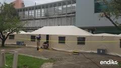 Federales instalan hospitales móviles en Centro Médico