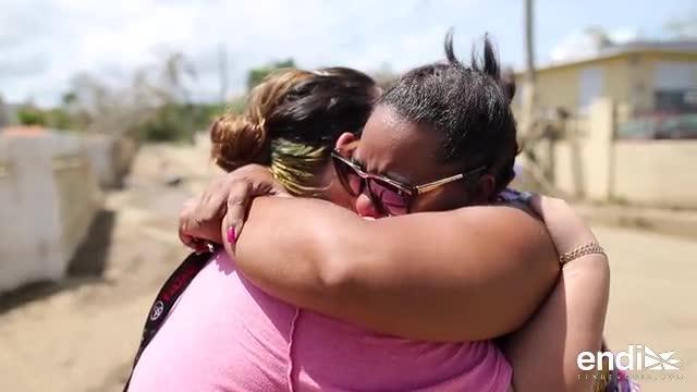 Estremecedor reencuentro de cuñadas luego del huracán María