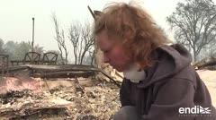 Nada que salvar: un barrio hecho cenizas por incendios en California