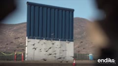 Se asoman prototipos del muro de Trump en frontera con México