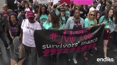 Centenares marchan en Hollywood contra el abuso sexual