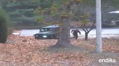 Difunden imágenes de la deserción de un soldado norcoreano