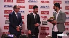 Lionel Messi recibe su cuarta Bota de Oro
