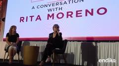 Rita Moreno sorprende en la isla con una nostálgica interpretación
