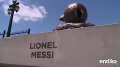 Vandalizan otra vez la estatua de Messi en Buenos Aires