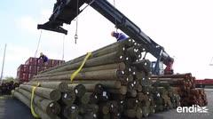 Llegan a San Juan unos 2,500 postes para la AEE