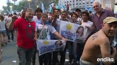 Manifestaciones en Buenos Aires en apoyo a Cristina Kirchner