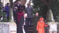 Meghan Markle acudió a la misa de Navidad con la familia real