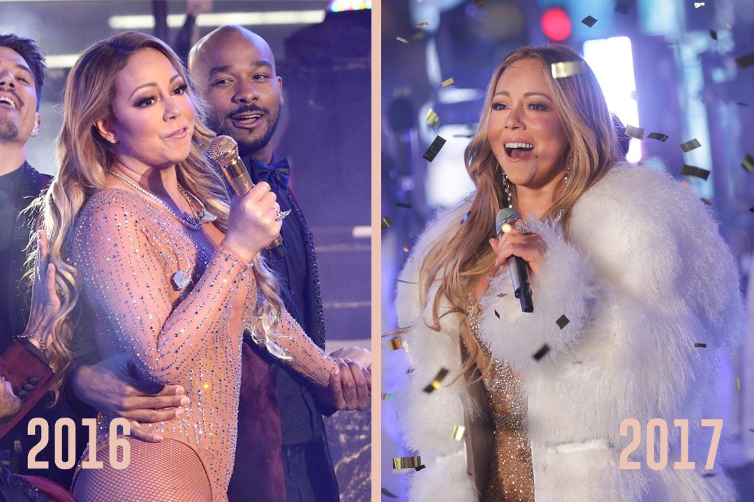 ¿Y cómo fue la presentación de Mariah Carey en Times Square?