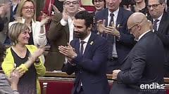 Independentistas conservan la presidencia del parlamento catalán