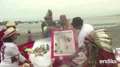 Chamanes bendicen visita del papa Francisco en Perú