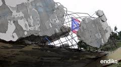 Los vientos enrollaron un techo de cemento y varillas en Yabucoa