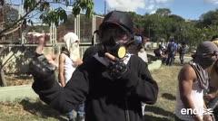 Se registran disturbios durante una protesta por la muerte de un piloto rebelde en Caracas