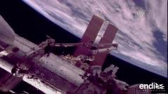 Astronautas culminan caminata espacial para reparar brazo de EEI