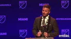 David Beckham auspicia un club de fútbol en Miami