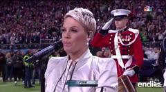 Pink canta el himno nacional en el Super Bowl