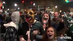 Así celebraron los fans de Filadelfia Eagles su primer Super Bowl