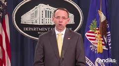 Acusan a 13 rusos por interferir en el sistema electoral de Estados Unidos