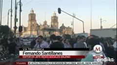 Multitudes pasan el terremoto en las calles de México