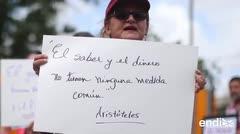 Protestan contra el plan fiscal de la UPR