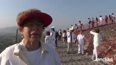 Cientos reciben equinoccio de primavera en pirámides mexicanas