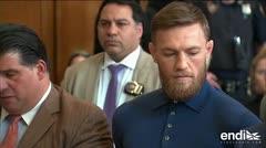 Liberan a estrella de la UFC Conor McGregor tras pagar fianza