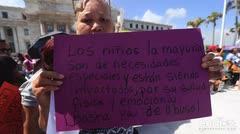 Protesta en el Capitolio por el cierre de escuelas