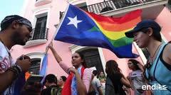Elevan la bandera del orgullo gay en el Viejo San Juan