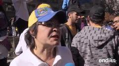 Cientos de venezolanos que viven fuera de su país protestan contra las elecciones