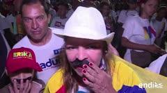 Los partidarios de Maduro celebran su reelección en Venezuela