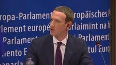 Mark Zuckerberg rindió cuentas ante los grupos parlamentarios de la Eurocámara