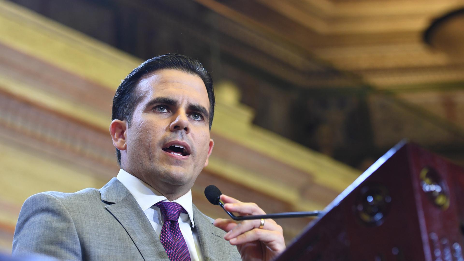 Ricardo Rosselló les hace una petición a los legisladores en el hemiciclo