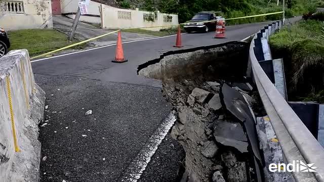 Un derrumbe amenaza carretera en Yabucoa