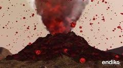 Mira cómo ocurre la erupción de un volcán