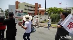 Protesta por las condiciones de trabajo en el Instituto de Ciencias Forenses