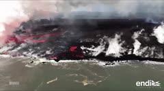 """Continúa el flujo de lava que """"no disminuye"""" del volcán Kilauea en Hawaii"""
