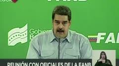 """Maduro acusa a Colombia de planear """"provocaciones"""" militares"""