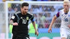 Argentina empata 1-1 ante Islandia, Messi falla un penal