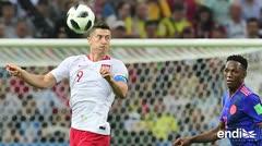 Colombia se despierta en el mundial, golea y elimina a Polonia