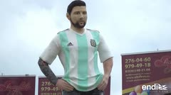 Fanáticos le celebran en grande el cumpleaños a Messi en Rusia