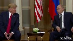 Se da la esperada reunión entre Donald Trump y Vladimir Putin en Helsinki
