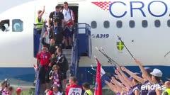 Fiestón para la selección croata a su regreso al país