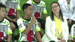 """""""Un milagro"""", así reaccionó uno de los niños al ser rescatado de la cueva en Tailandia"""