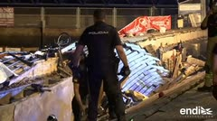 Más de 300 heridos al hundirse una plataforma en un festival en España