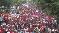 """Miles de chavistas marchan en rechazo al """"atentado"""" contra Maduro"""